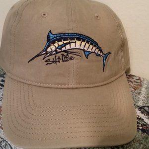 NWT Khaki hat with fish